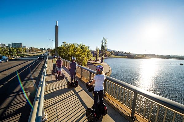 Segways around Lake Burley Griffin