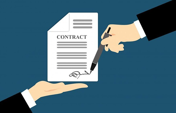First contract signed